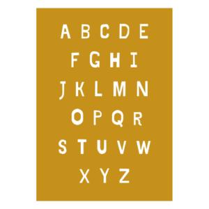 alfabet poster abc kleuterkamer kleuter