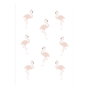 poster flamingo roze flamingo's rose meisjeskamer babykamer decoratie posters collage kopen webshop web shop
