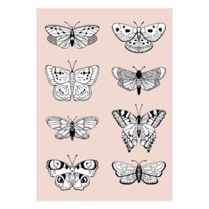 poster vlinder meisjeskamer babykamer