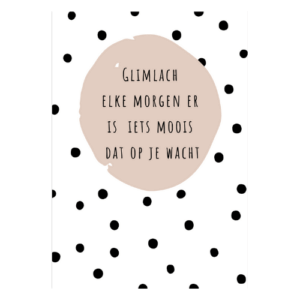 christelijke kaarten glimlach elke morgen er is iets moois dat op je wacht kaart kopen