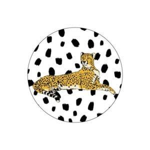sluitsticker kadosticker zwart wit tijger kadosticker