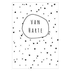 cadeaulabel kado label kadolabel mini kaartje kopen van harte gefeliciteerd verjaardag jarig