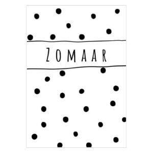 cadeaulabel kado label kadolabel mini kaartje kopen zwart wit polkadot stippen zomaar