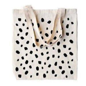canvas tas zwarte stippen gestipt dots canvastas stevig online kopen bestellen webshop