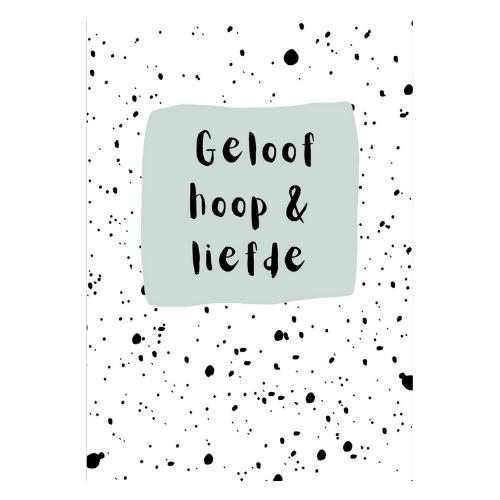 geloof hoop en liefde kaart kaartje kopen online bestellen webshop shopsmall