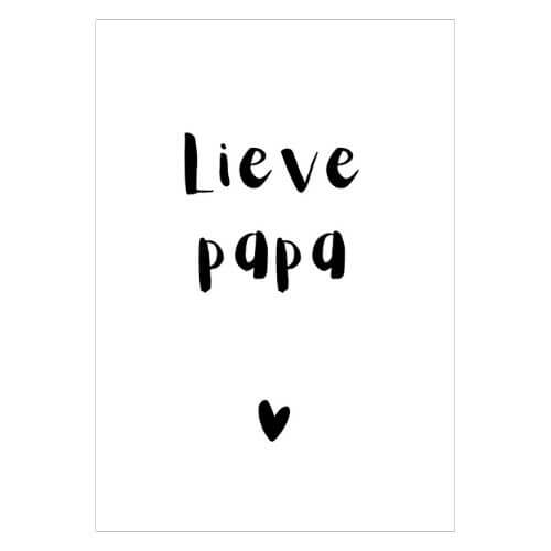 kaart lieve papa vader minikaartje minikaart mini kaartje kadokaartje cadeaukaartje