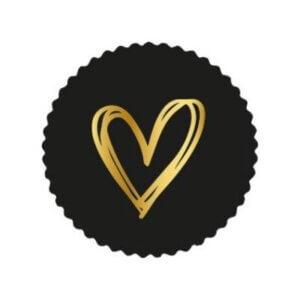 sluitsticker kadosticker cadeausticker stickers hart gouden goud hartje