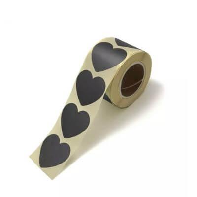 sluitstickers wensetiket sluitsticker kadosticker kadostickers hart zwart hartje inpakken