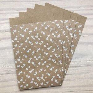 cadeauzakjes kraft hartjes wit inpakken cadeau cadeautje online kopen bestellen webshop