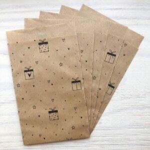 cadeauzakjes kraft hartjes zwart bruin cadeauzakje kadozakje cadeautje inpakken online kopen bestellen