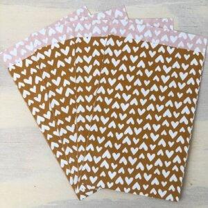 cadeauzakjes roest roestkleur hartjes inpakken webshop bestellen