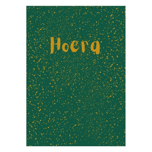 verjaardagskaart groen hoera verjaardagskaartje verjaardag kaart jarig kaartje echte post verjaardagspost webshop online bestellen kopen