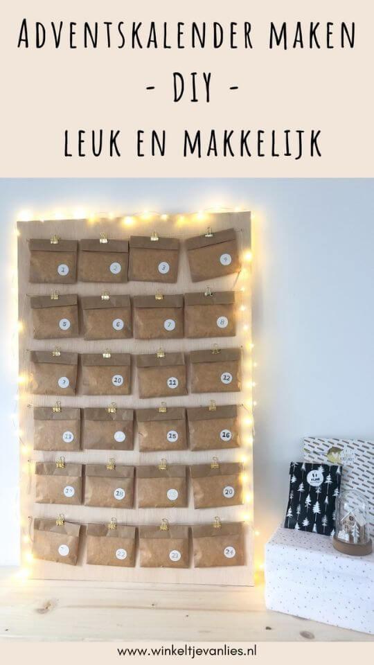 Adventskalender maken - DIY - Leuk en makkelijk advent kalender hoe maken blog knutselen how to maken
